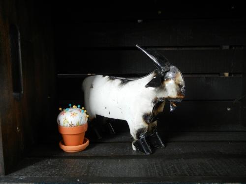 Metal Goat Statue